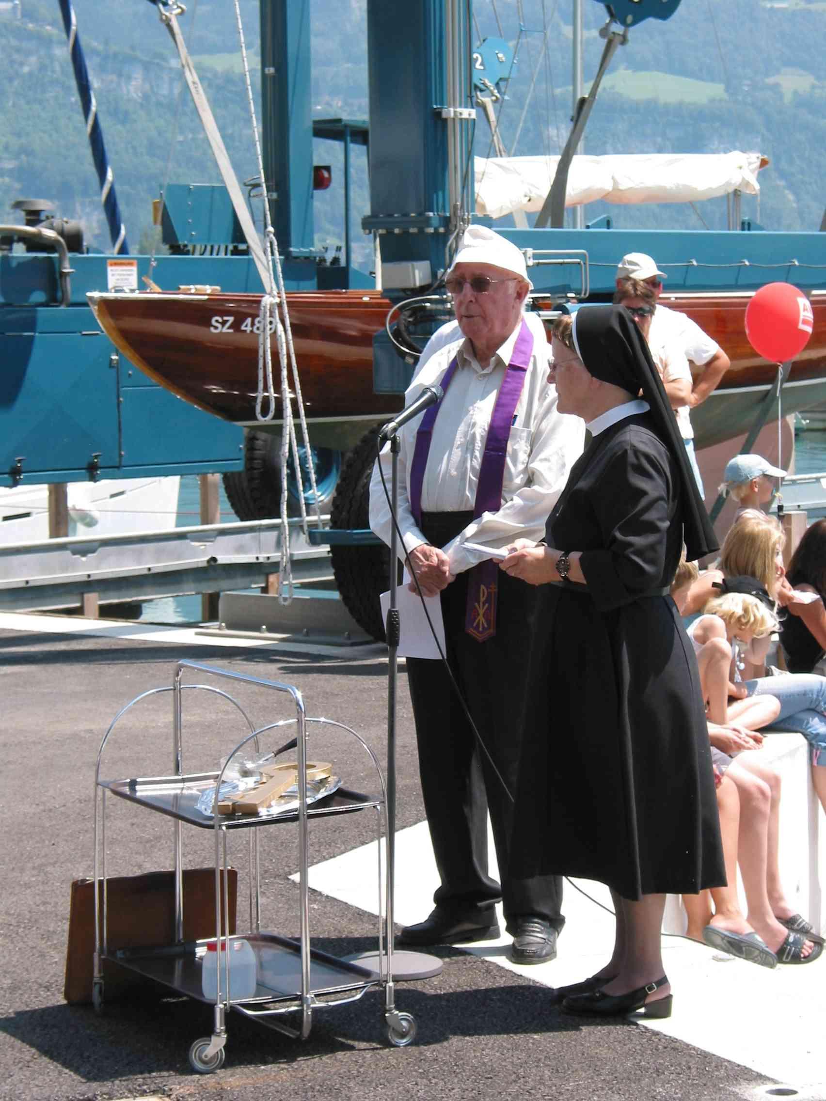 Pfarrer Mettler und Schwester Servanda