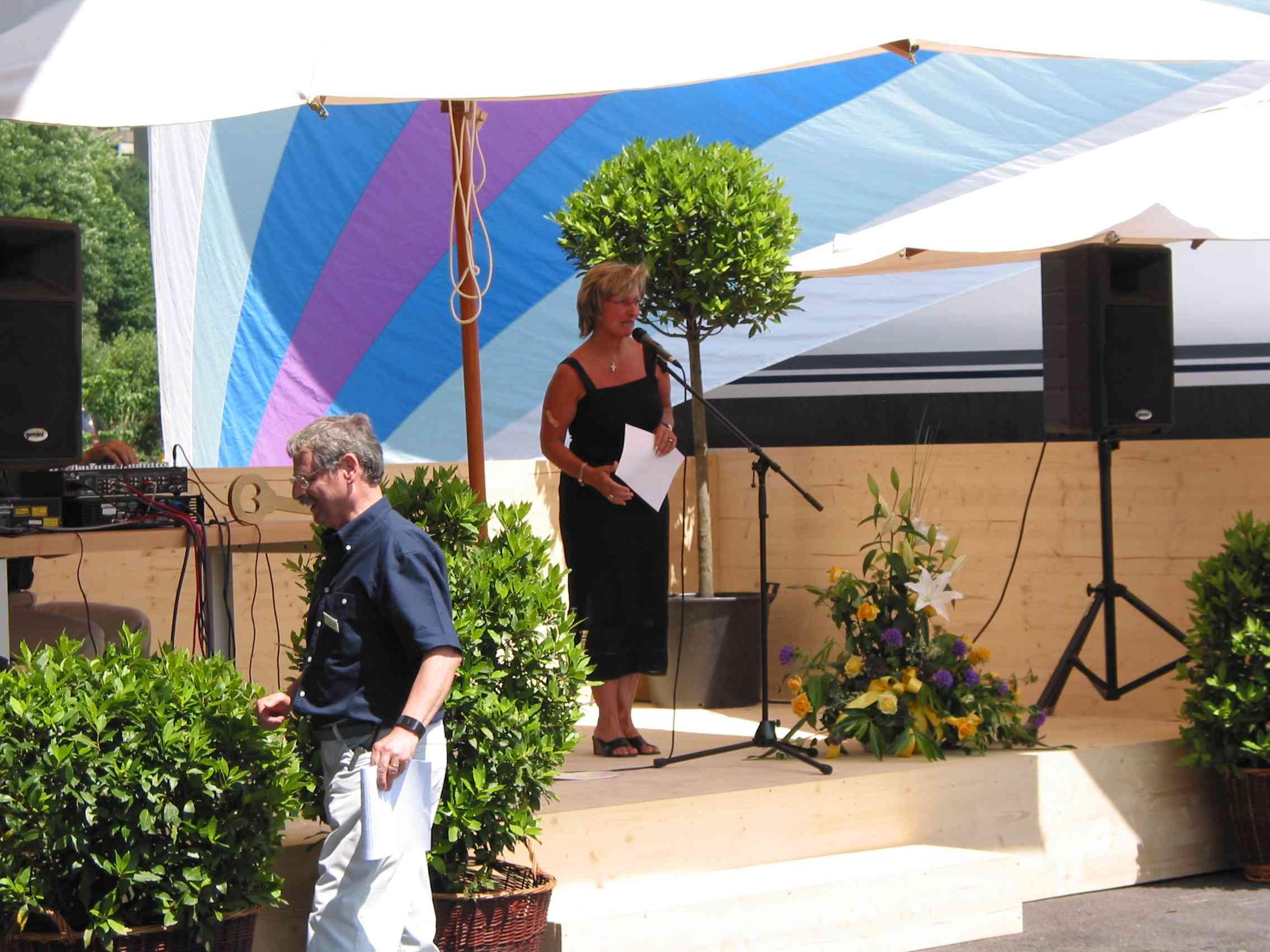 Frau Bezirksammann Brigitte Camenzind fand ebenfalls lobende Worte zur Marina Fallenbach.